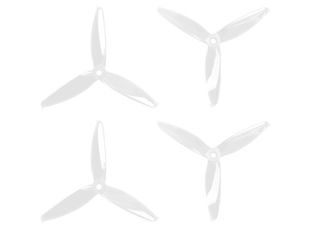 GEMFAN FLASH 5152 3 blades transparant set van 4
