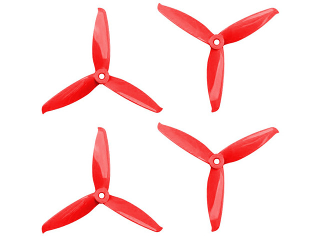 GEMFAN FLASH 5152 3 blades rood set van 4
