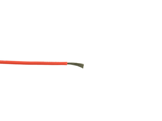 Siliconen kabel 24AWG rood